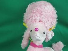 YOTTOY NEW YORK PINK POODLE GOLD EARRINGS SHAGGY PARLOR SHAVED PLUSH STUFFED