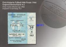 Fußball Weltmeisterschaft 1966 + WM Final Ticket + Orig. Repro Postkarten Serie