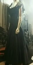 Vintage Jessica McClintock BLACK GOTHIC ELVIRA WEDDING PARTY Gown Dress  SIZE 2