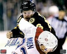 Kevan Miller Boston Bruins Signed Autographed Fight vs Canadiens Moen 8x10 B