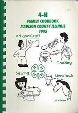*EDWARDSVILLE IL 1995 MADISON COUNTY 4-H FAMILY COOK BOOK *ILLINOIS RECIPES RARE