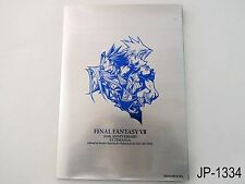 Final Fantasy VII 10th Anniversary Ultimania Japanese Artbook 7 Japan Book