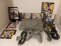 READ Sony PlayStation One (PS1) Console W/ 4 Games, Controller, + MORE Tested🔌