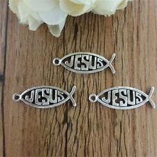 Wholesale 10pcs Tibet Silver  I love Jesus Crafts Charms Pendants Making Jewelry