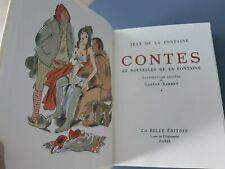 La Fontaine Contes tomes 1 & 2 illustrations erotiques pas Barret