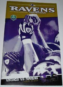 BALTIMORE RAVENS 2008 NFL GAME PROGRAM vs MINNESOTA VIKINGS