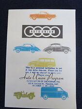 DKW Auto Union 1959 ? Sales Brochure Saxomat Automatic Clutch Color Fold Out