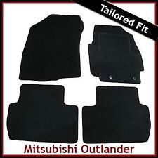 MITSUBISHI OUTLANDER Mk2 2006-2012 Tailored Carpet Car Floor Mats BLACK