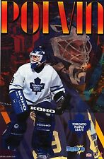 SPORTS POSTER~Toronto Maple Leafs 1996 Felix Potvin Starline Original NHL Print~