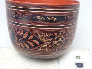 Bowl Lacquer Burmese Mon Lacquer