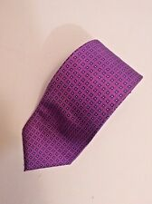 Harvie And Hudson London Purple All Silk Tie Made In England