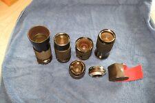 Vintage lenses 5 of them rokinon 28mm MD  Tamron OM Sigma FD Topman for sony e