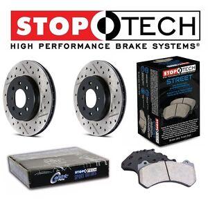 For Honda Civic 2.0L Front Drilled Slotted Brake Rotors Street Pads Set Kit