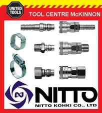GENUINE NITTO JAPANESE MADE QUICK CUPLA AIR FITTINGS & CLAMPS- 1/4 3/8 & 1/2 BSP