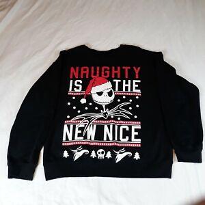 The Nightmare Before Christmas Naughty Is The New Nice Sweatshirt Size Large