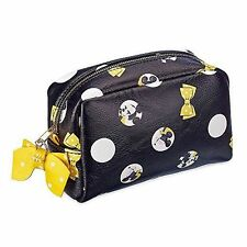 Minnie Mouse Signature Makeup Bag Official Disney Store Polka Dots Yellow Bow