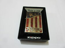 Zippo Stars & Stripes USA Flagge V8 Big Block Rockabilly Nose Art US Car Army