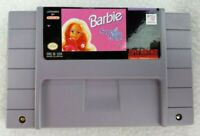Barbie Super Model - Super Nintendo SNES Game Cartridge - 1991  Tested + Working