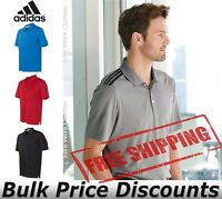 Adidas Mens Climacool 3-Stripes Shoulder Polo Shirt Button A233 up to 4XL