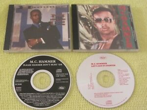 MC Hammer Please Hammer Don't Hurt Em & Let's Get It Started 2 CD Albums Hip Hop
