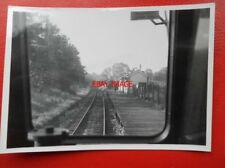 PHOTO  APPROACHING MORCOTT RAILWAY STATION VIEW FROM CAB OF DMU