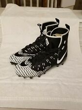 Nike Force Savage Pro Men's Size 14 Football Cleats Black White
