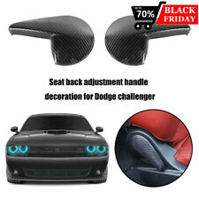 Carbon Fiber Style Seat Handle Panel Cover Trim Inne For Dodge Challenger 2010+