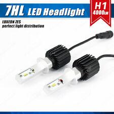 H1 G7 LED Headlight Bulb 50W 8000LM Fanless ZES Chip White 6500K Adjustable Beam