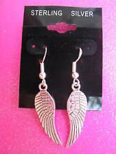 925 Sterling Silver Feather Dangle Earrings