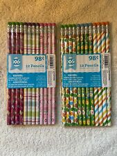 Easter/Spring Pencils. New. Two packs; 12 pencils in each pack. 24 pencils total