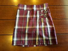 Cherokee School Uniforms Girls Pleated Scooter Plaid- built in shorts