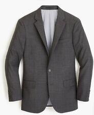 J. Crew Ludlow Slim Fit Suit Jacket Men Sz 42R Charcoal Gray Italian Wool Blazer
