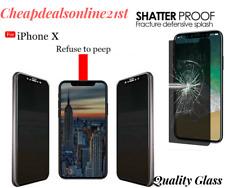 Para iPhone X Anti Espia Privacidad Mate Protector de Pantalla de Cristal Templado Real