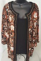 Studio 1940 Womens Multi Color Layer LOOK Shirt Top Blouse Size 18 20