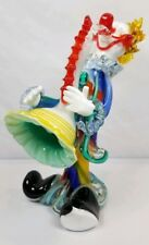 LARGE Exceptional Italian Murano Art Glass Musician Clown Playing Saxaphone