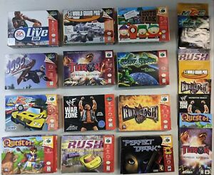 12 N64 Nintendo 64 Empty Boxes and 9 Manuals Collection Lot