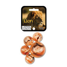 Mega Marbles Themed- 24 Player Marbles (5/8'') - 1 Shooter (1'')- (Lion)