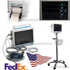 CE&FDA 6-Parameter Vital Signs ICU Patient Monitor+Printer+Rolling Stand, CONTEC