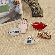 Collar Pin Hand Lolita Lippe Kartoon Anstecknadel Brosche Brooch Kragen Augen
