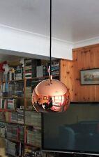 1960s DANISH DESIGN MODERN : BENNY FRANDSEN COPPER BALL PENDANT CEILING LIGHT