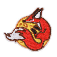 fox iron on patch embroidered applique sewing clothes stickers garment appare Pf