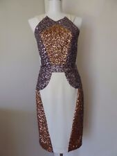 Howard Showers As New Cream Gold Light Purple Special Occasion Dress size 8
