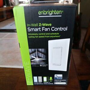Enbrighten In Wall Z Wave Smart Fan Control White (55258-1) ZW4002 (New/Sealed)