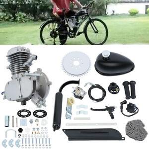 80cc Bicycle Motor Kit Bike Motorized 2 Stroke Petrol Gas Engine Set Silver