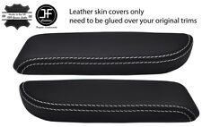 WHITE STITCH 2X FRONT DOOR ARMREST LEATHER COVERS FOR TOYOTA LAND CRUISER 90-97