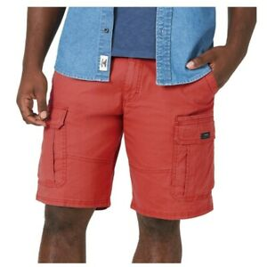 "Wrangler Mens 40 Coral Flat Front Stretch Cargo Shorts 10"" NWT"