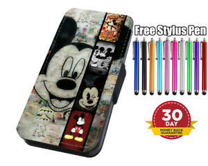 Disney Mickey Mouse Flip Phone Case Cover for iPhone Samsung And Huawei
