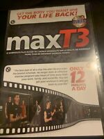 MaxT3 Exercise DVD 2-Discs 12 Workouts Fitness Max T3 Fat Burn Muscle Bx8