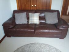 2 x brown leather DFS Lounge Suites cost £2400 new - Very good condition.