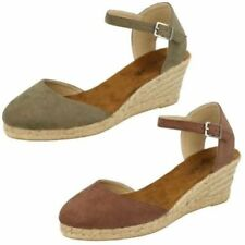 Buckle Suede Sandals Heels for Women